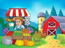Immagine 5 di tema dell'agricoltore Fotografia Stock Libera da Diritti