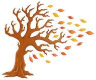Immagine 1 di tema dell'albero di autunno Fotografie Stock Libere da Diritti