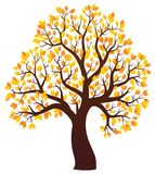 Immagine 3 di tema dell'albero di autunno Fotografia Stock