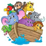 Immagine 1 di tema dell'arca di Noahs Fotografia Stock Libera da Diritti
