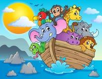 Immagine 2 di tema dell'arca di Noahs Immagine Stock Libera da Diritti