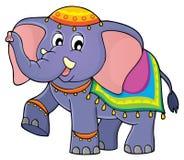 Immagine 1 di tema dell'elefante indiano royalty illustrazione gratis
