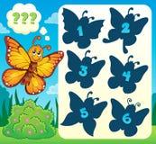 Immagine 4 di tema dell'enigma della farfalla Immagine Stock