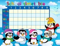 Immagine 9 di tema dell'orario della scuola Fotografie Stock