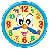 Immagine 5 di tema dell'orologio Immagini Stock