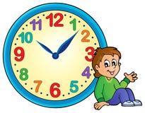 Immagine 2 di tema dell'orologio Fotografie Stock