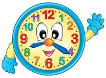 Immagine 6 di tema dell'orologio Immagine Stock