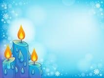 Immagine 4 di tema della candela di Natale Immagini Stock Libere da Diritti