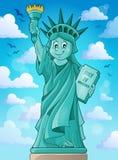 Immagine 3 di tema della statua della libertà Fotografia Stock
