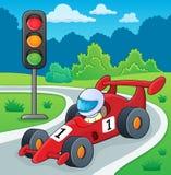 Immagine 2 di tema della vettura da corsa Fotografie Stock