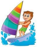Immagine 1 di tema dello sport acquatico Immagine Stock Libera da Diritti