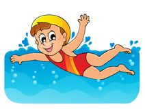 Immagine 1 di tema di nuoto Immagini Stock
