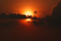 Immagine di tramonto Fotografie Stock Libere da Diritti