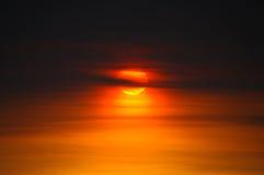 Immagine di tramonto Fotografia Stock