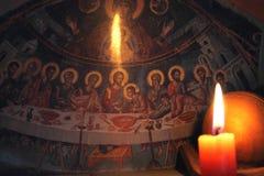 Immagine di ultima cena di Cristo Immagine Stock