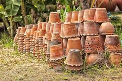 Gruppo di terraglie dell'argilla Fotografia Stock