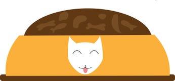 Immagine di una ciotola con cibo per cani, per i vostri articoli, immagini e progetti immagini stock