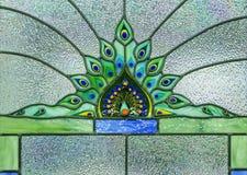 Immagine di una finestra di vetro macchiato Fotografia Stock Libera da Diritti