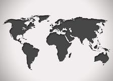 Immagine di una mappa di mondo stilizzata Fotografie Stock Libere da Diritti