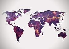 Immagine di una mappa di mondo stilizzata Immagini Stock Libere da Diritti