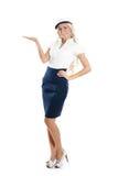 Immagine di una ragazza del marinaio che mostra il giusto senso Fotografia Stock