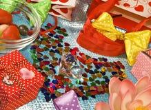Immagine di vari contenitori di regalo Fotografie Stock Libere da Diritti