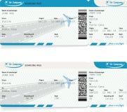 Immagine di vettore del biglietto del passaggio di imbarco di linea aerea Immagine Stock