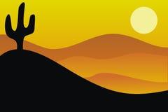 Immagine di vettore del deserto Fotografie Stock Libere da Diritti