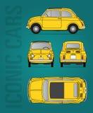 Immagine di vettore del oldtimer di Fiat 500 Fotografia Stock