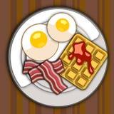 Immagine di vettore del piatto della prima colazione Fotografia Stock