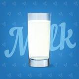 Immagine di vettore del vetro di latte Fotografie Stock Libere da Diritti