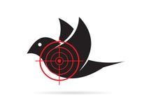 Immagine di vettore dell'obiettivo dell'uccello Fotografie Stock Libere da Diritti