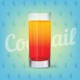 Immagine di vettore della bevanda fresca del cocktail Fotografia Stock