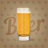 Immagine di vettore della birra di vetro di birra Immagine Stock Libera da Diritti