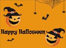 Immagine di vettore della cartolina d'auguri del partito di Halloween royalty illustrazione gratis