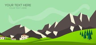 Immagine di vettore della montagna dell'insegna Immagini Stock Libere da Diritti