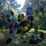 Immagine di vettore delle foglie cadenti royalty illustrazione gratis