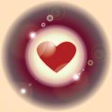 Immagine di vettore di cuore nel circl illustrazione di stock
