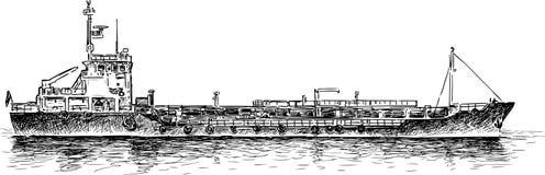 nave del Asciutto-carico illustrazione vettoriale