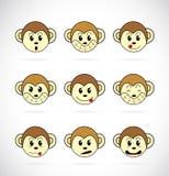 Immagine di vettore di un fronte della scimmia Fotografia Stock