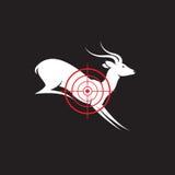 Immagine di vettore di un obiettivo dei cervi Fotografie Stock