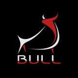 Immagine di vettore di una progettazione del toro su un fondo nero illustrazione di stock