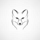 Immagine di vettore di una progettazione della volpe su un fondo bianco Fotografie Stock Libere da Diritti