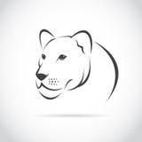 Immagine di vettore di una testa femminile del leone Immagini Stock