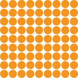 Immagine di vettore di grandi punti arancio su un fondo bianco royalty illustrazione gratis