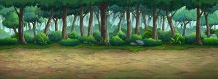 Immagine dipinta nella foresta illustrazione di stock