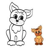 Immagine divertente del cane, di coloritura e di colore, cucciolo royalty illustrazione gratis