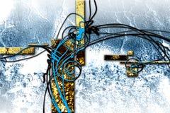 Immagine divertente di colore di progettazione dell'illustrazione astratta di arte illustrazione vettoriale