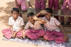 Immagine documentaria editoriale, ritratti degli studenti della scuola Immagine Stock Libera da Diritti