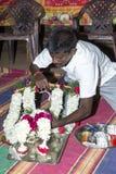 Immagine documentaria: L'India Puja prima della nascita Fotografia Stock Libera da Diritti